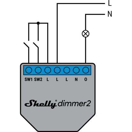 Shelly Dimmer 2 110-240V AC No Neutral Wiring Diagram