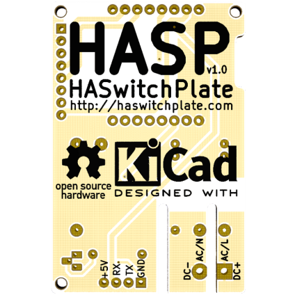 Home Assistant Switchplate PCB Back