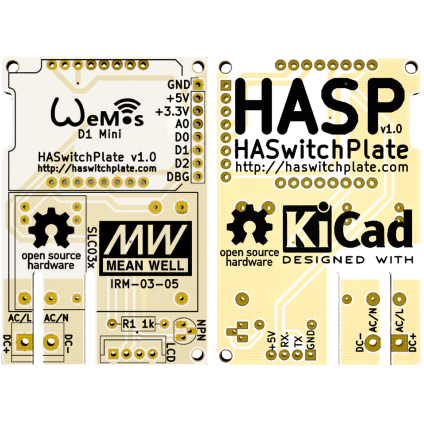 Home Assistant Switchplate PCB