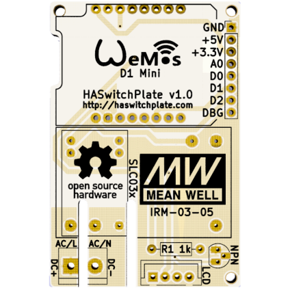 Home Assistant Switchplate PCB Front