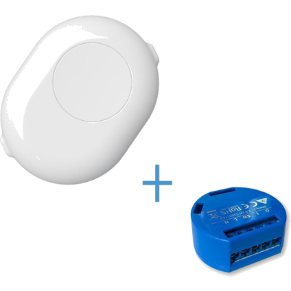 Shelly 1 with Shelly Button (White)