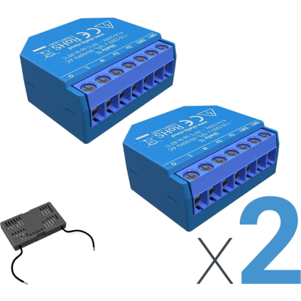 Shelly 1L (2 Pack with Bypass)