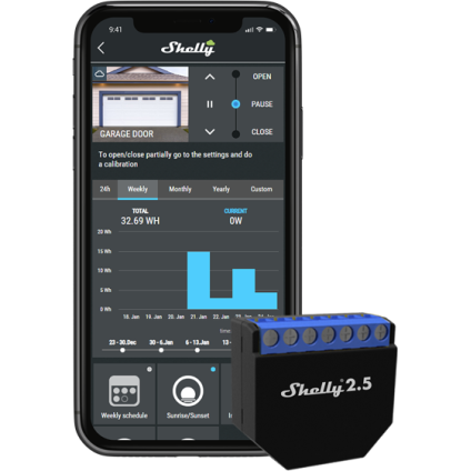 Shelly 2.5 Cloud Mobile App